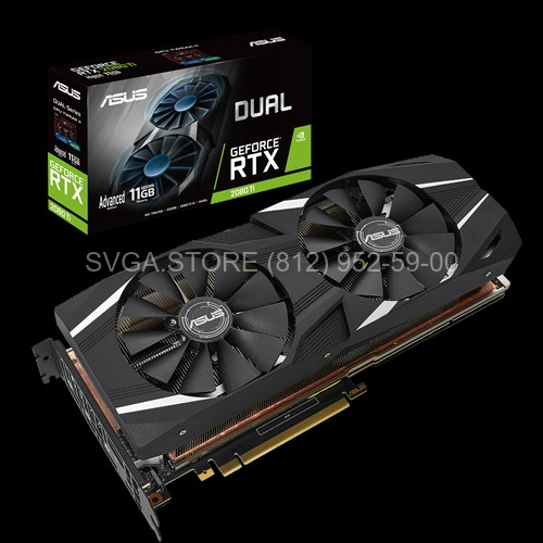 Видеокарта ASUS RTX2080Ti 11Gb DUAL Advanced 11Gb [DUAL-RTX2080TI-A11G]