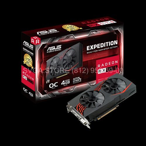 Видеокарта Asus RX570 4Gb Expedition OC [EX-RX570-O4G]