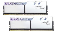 Память DDR4 16Gb (2x8Gb kit) 3200MHz PC4-25600 G.SKILL TRIDENT Z ROYAL CL14 1.35V [F4-3200C14D-16GTRS] Chrome