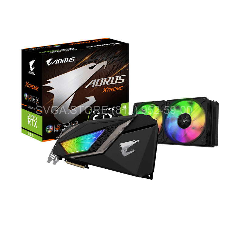 Видеокарта Gigabyte RTX2080 8Gb AORUS XTREME WATERFORCE [GV-N2080AORUSX W-8GC]