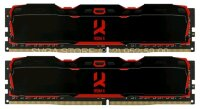 Память DDR4 8Gb KIT(4Gbx2) 2800MHz Goodram IRDM X Black CL16 SingleRank [IR-X2800D464L16S/8GDC] with radiators
