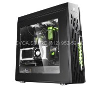 Корпус Deepcool ATX Black Green LED [GENOME II BK-GN]