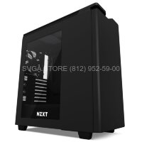 Корпус NZXT H440 Silent Mid Tower ATX case, black/black, window [CA-H442W-M8]