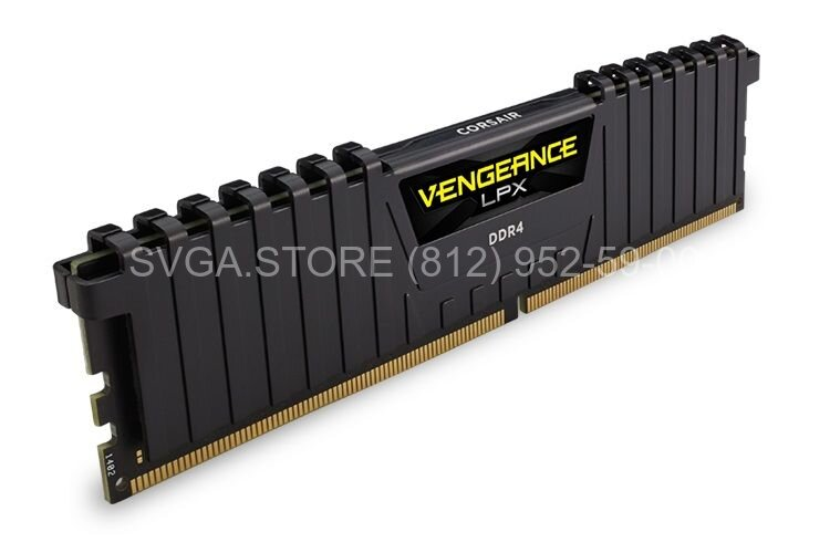 Память DDR4 8Gb 3000MHz PC4-2400 Corsair VENGEANCE CL16 [CMK8GX4M1D3000C16]