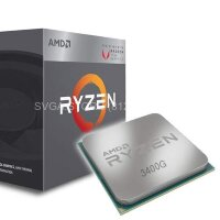 Процессор AMD RYZEN 5 3400G SAM4 BOX [YD3400C5FHBOX]