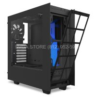 Корпус NZXT S340 Mid Tower ATX case, black / blue trim [CA-S340MB-GB]