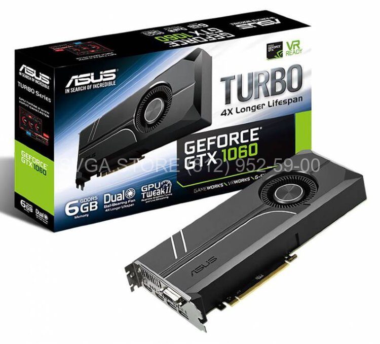 Видеокарта ASUS GTX1060 6Gb TURBO [TURBO-GTX1060-6G]