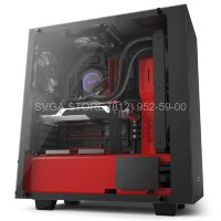 Корпус NZXT S340 ELITE MATTE BLACK/RED [CA-S340W-B4]