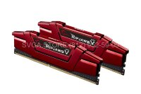 Память DDR4 32Gb (2x16Gb kit) 3200MHz PC4-25600 G.SKILL RIPJAWS V CL14 1.35V [F4-3200C14D-32GVR] Blazing Red