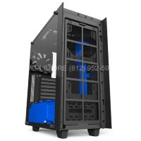 Корпус NZXT S340 ELITE BLACK-BLUE [CA-S340W-B5]